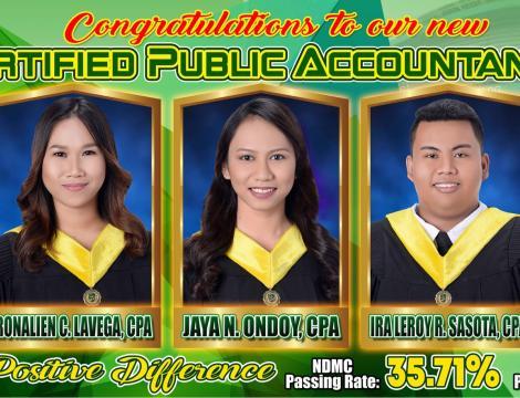 NDMC congratulates the 5 new CPAs
